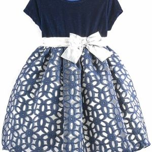 Baby Girls Floral Geometric Special Occasion Dress